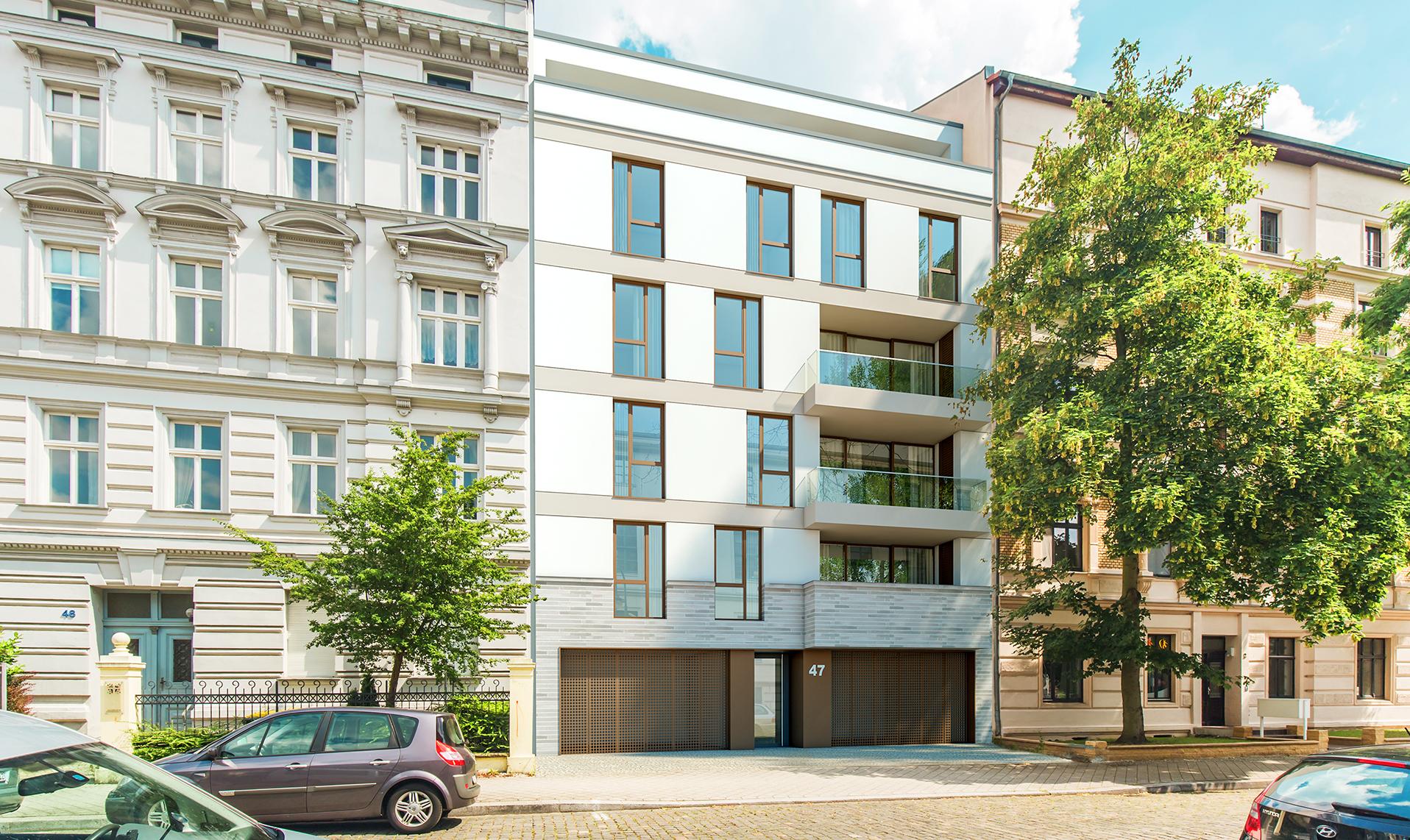stadthaus leibniz 47 modernes wohnen in magdeburg. Black Bedroom Furniture Sets. Home Design Ideas